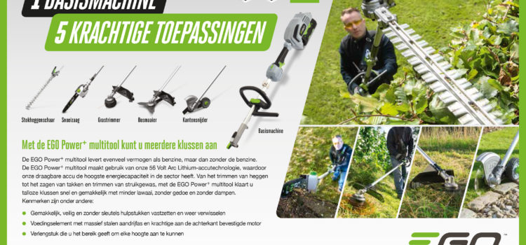 Nieuw in assortiment: EGO Power+ Multitool